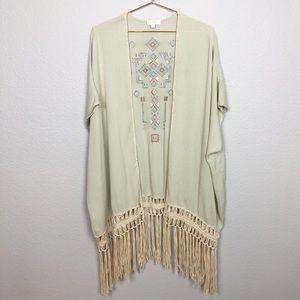 Umgee Boho Fringe Kimono
